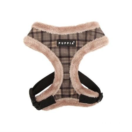 Puppia Harness postroj pro psa zateplený s kožíškem Velikost: XXL,Hněda