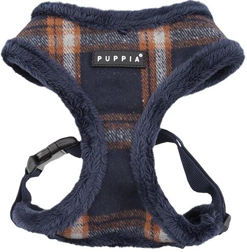 Puppia Harness postroj pro psa zateplený s kožíškem Velikost: S, Barva: Temně Modrá