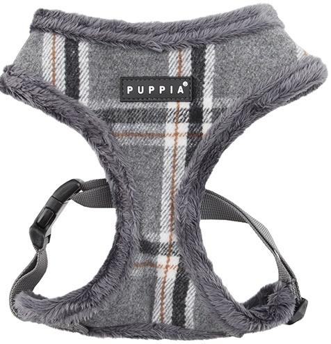 Puppia Harness postroj pro psa zateplený s kožíškem Velikost: S, Barva: Šedá
