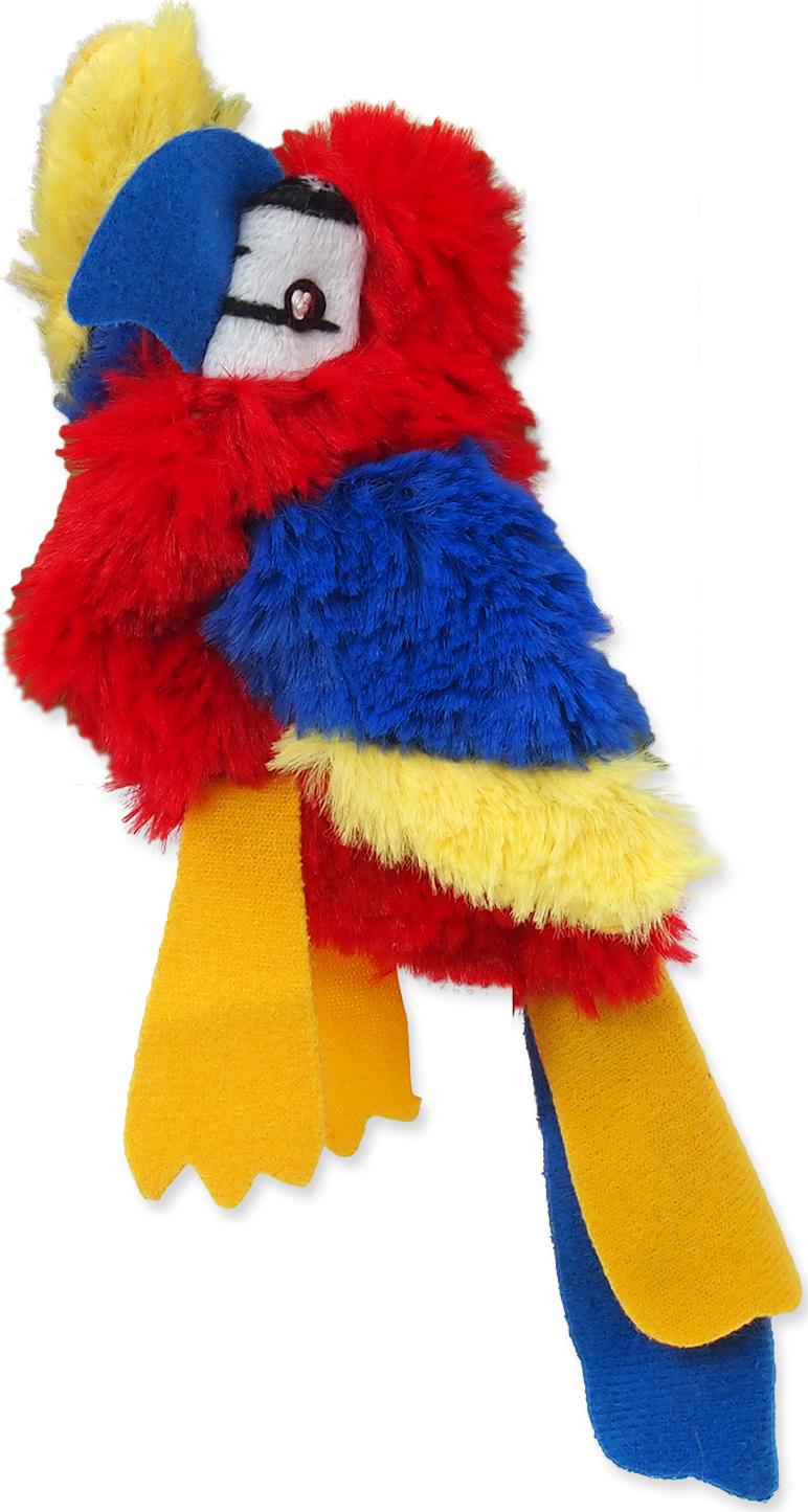 Dog Fantasy Hračka MAGIC CAT Skinneeez papoušek
