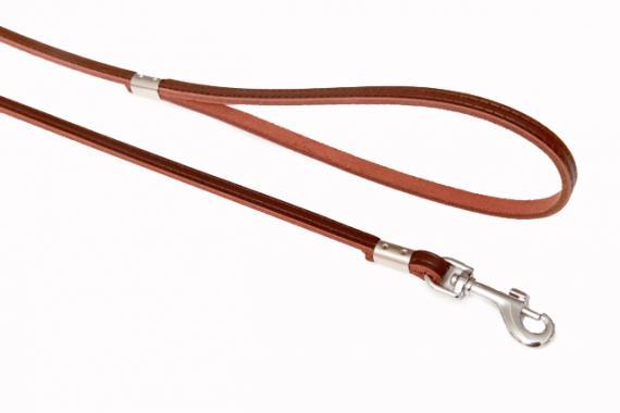 B&F-pet Kožené vodítko Grazl hladký hnědý Rozměry: 0,7x120cm