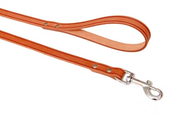 B&F-pet Kožené vodítko Grazl hladký koňak Rozměry: 1,2x120cm