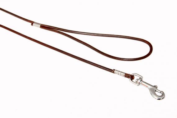 B&F-pet Kožené vodítko Hnědý Rozměry: 0,4x120cm