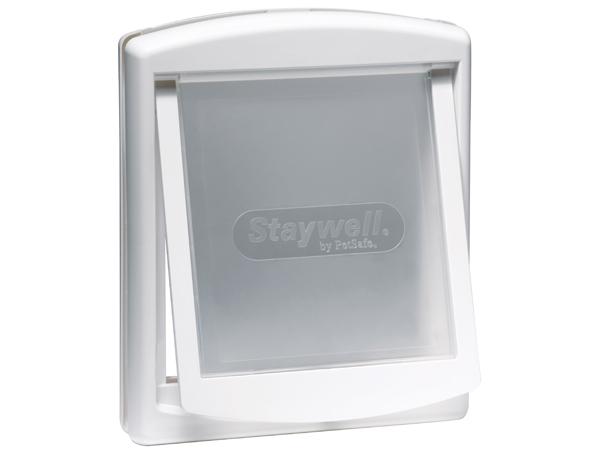 Staywell Dvířka pro psy bílá s transparentním flapem pro střední psy 35x29cm
