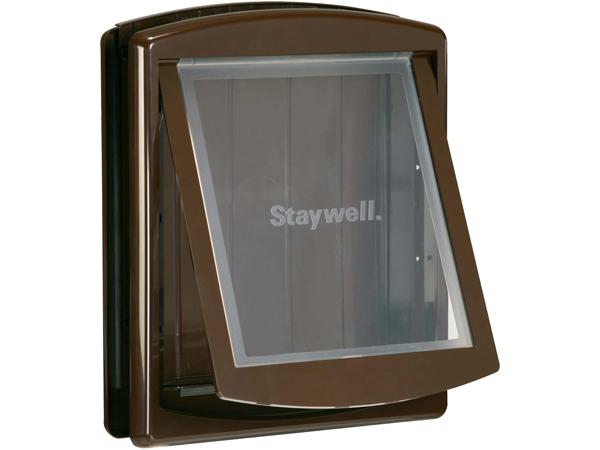 Staywell Dvířka pro psy hnědá s transparentním flapem pro velké psy 47x39cm