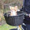 Přepravní koš na kolo s drátěnou kabinou - černý 50x41x35cm