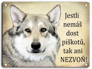 Plechová cedulka - Československý vlčák