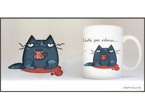 Hrnek s modrou kočkou