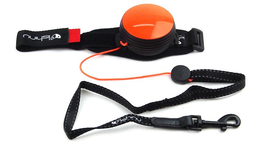Lishinu NEON Light Lock Orange – samonavíjecí vodítko