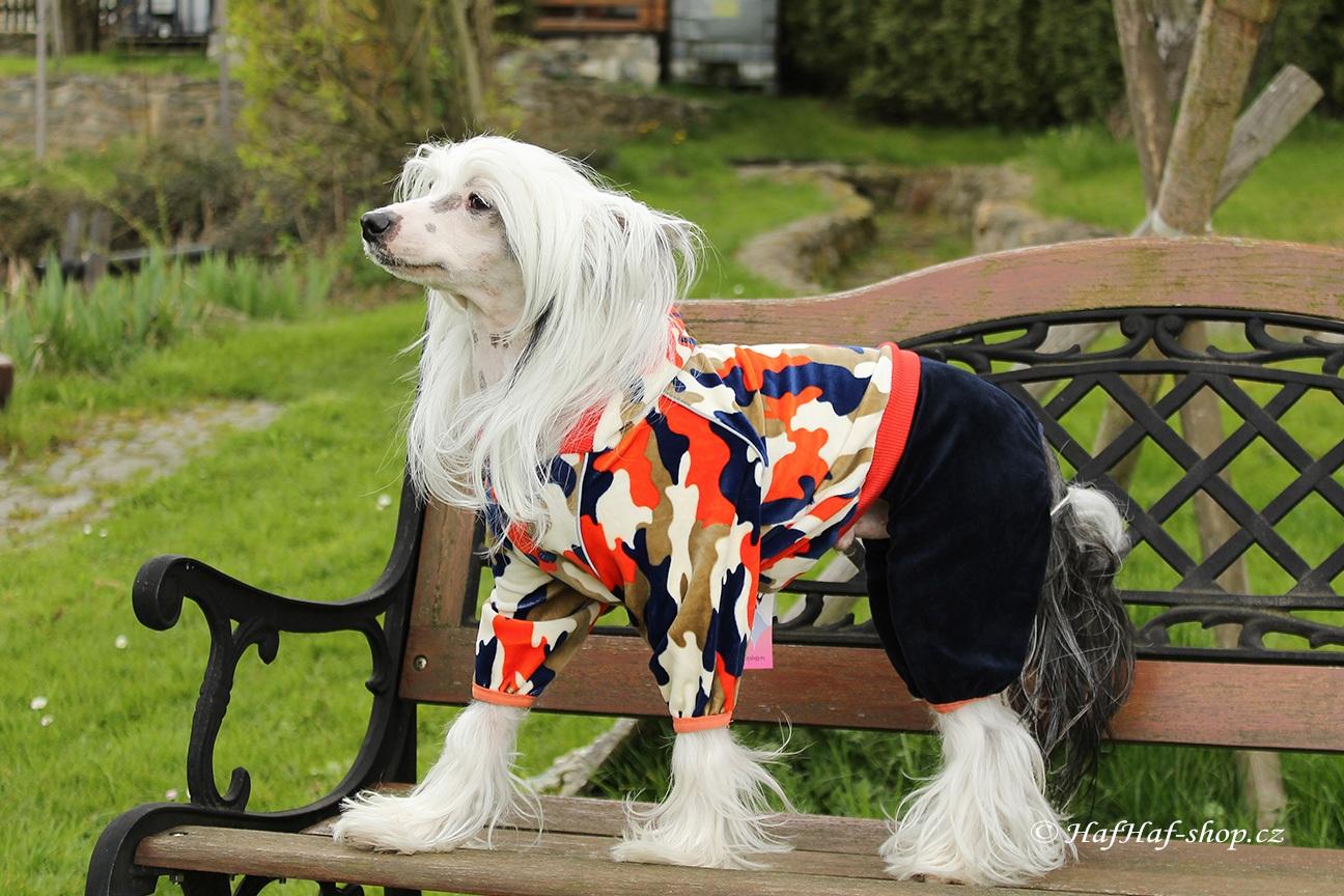 Oblečky pro psy – Maskáčový overal pro psy a fenky