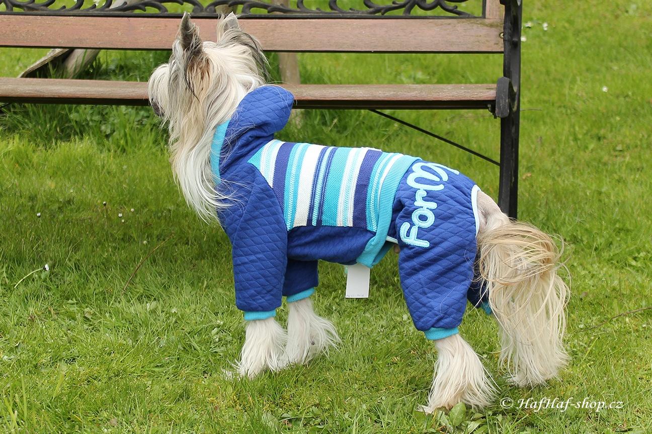 Oblečky pro psy – Úpletový overal For My Dogs, modrý