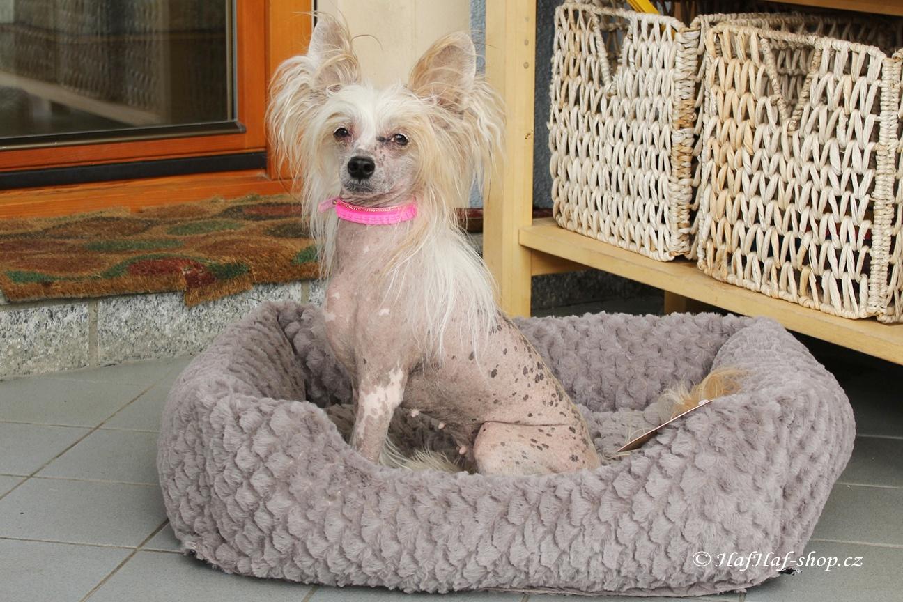 Pelíšek pro psy Grey & Pink