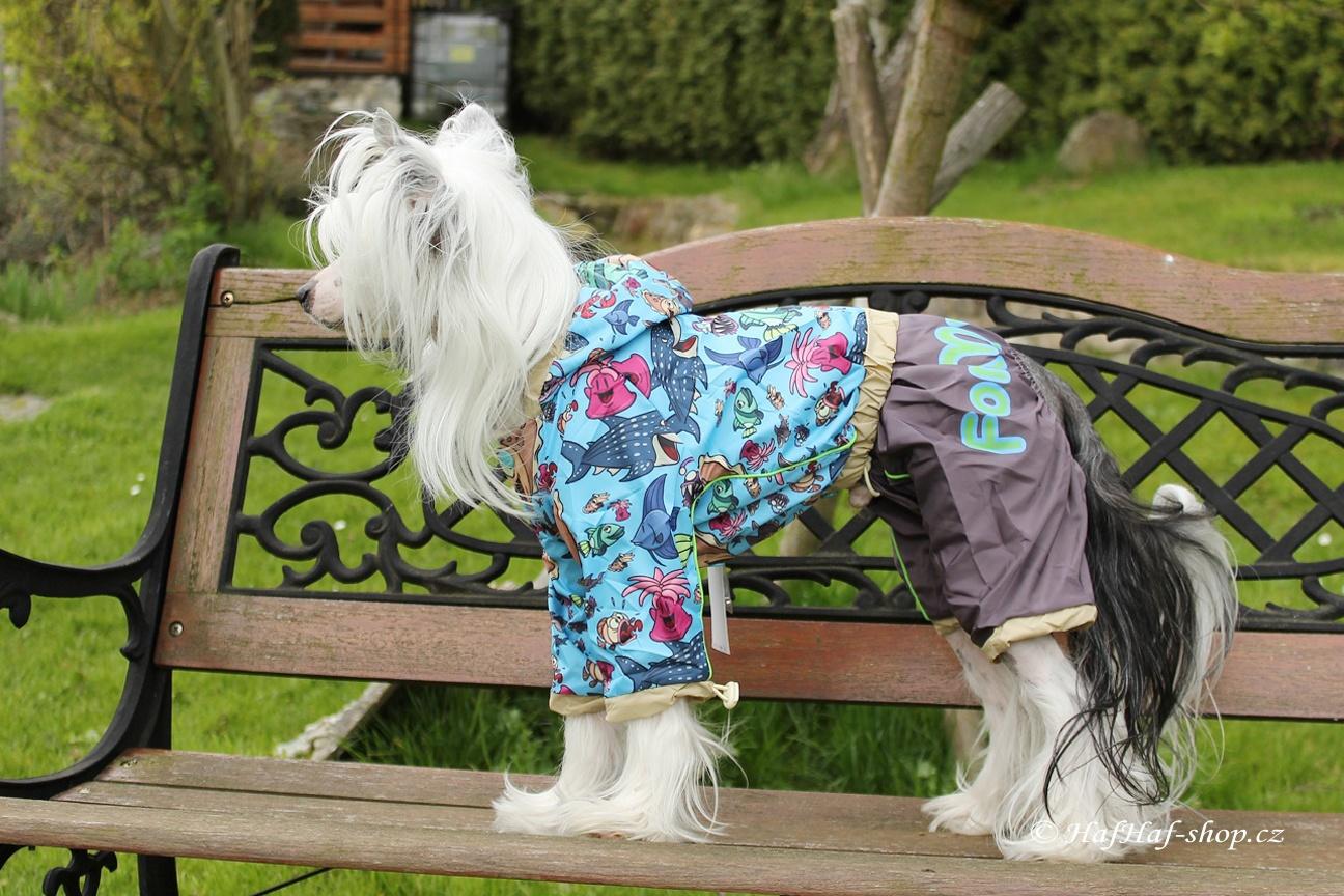Obleček pro psy – pláštěnka MARINE FANTASY