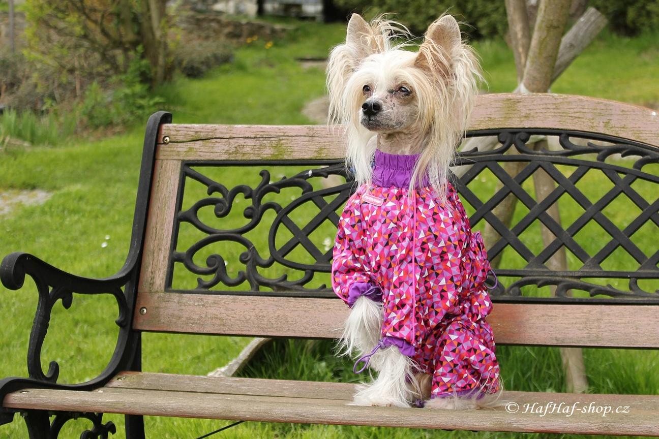 Obleček pro fenky – pláštěnka FMD, fialová