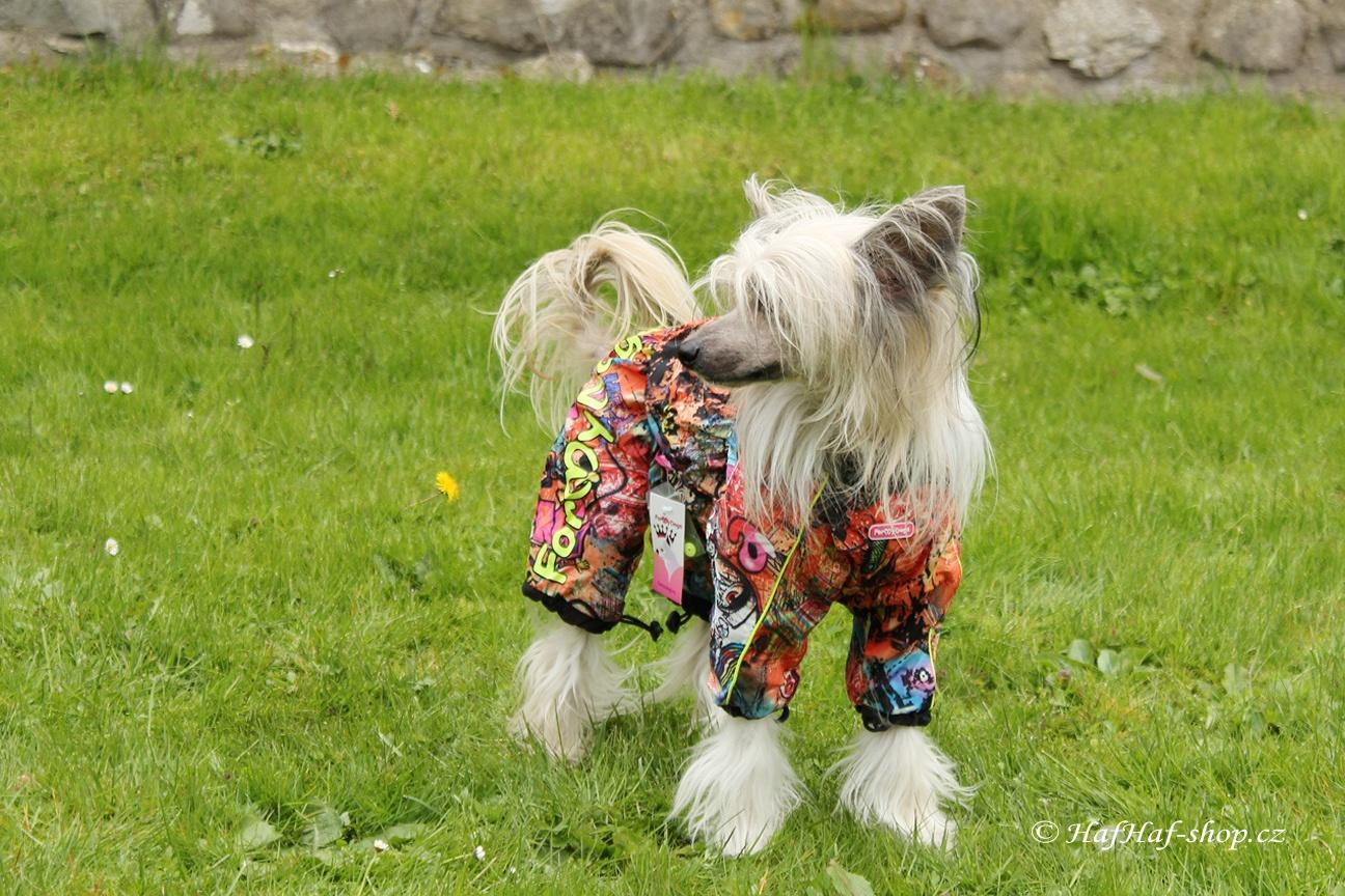 Obleček pro fenky – pláštěnka multicolor