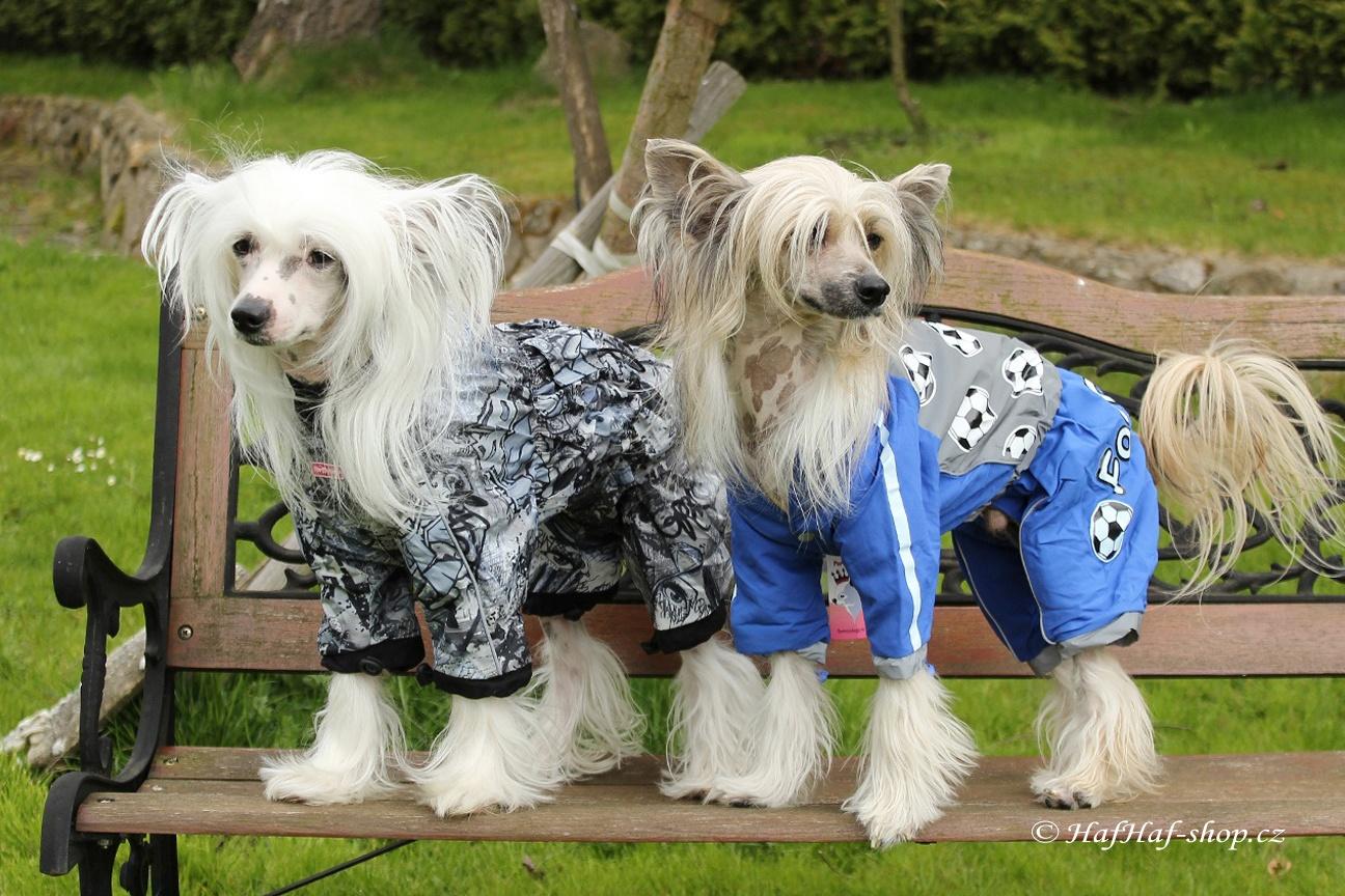 Oblečky pro psy – pláštěnka FMD, šedočerná