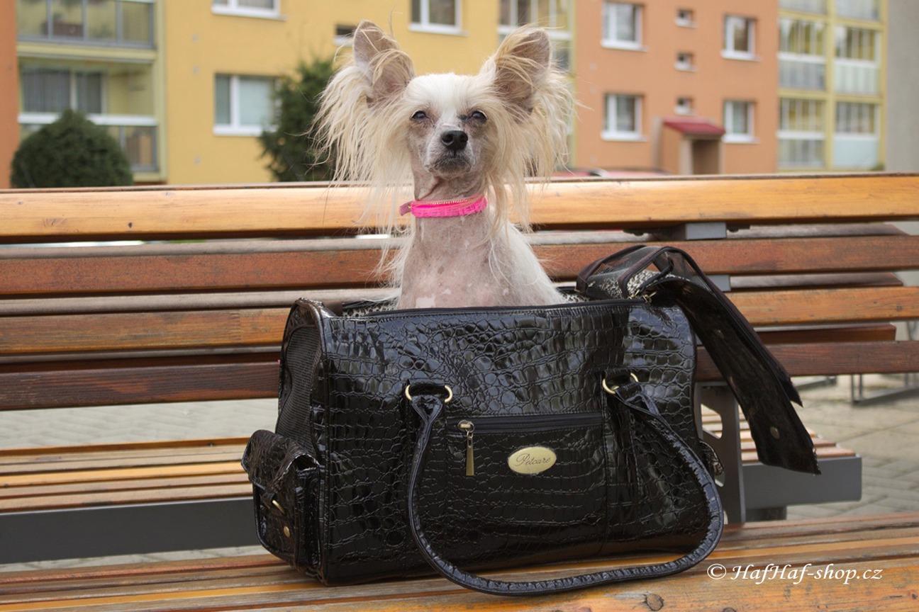 Luxusní taška na psa URBAN PUP Black Snakesin