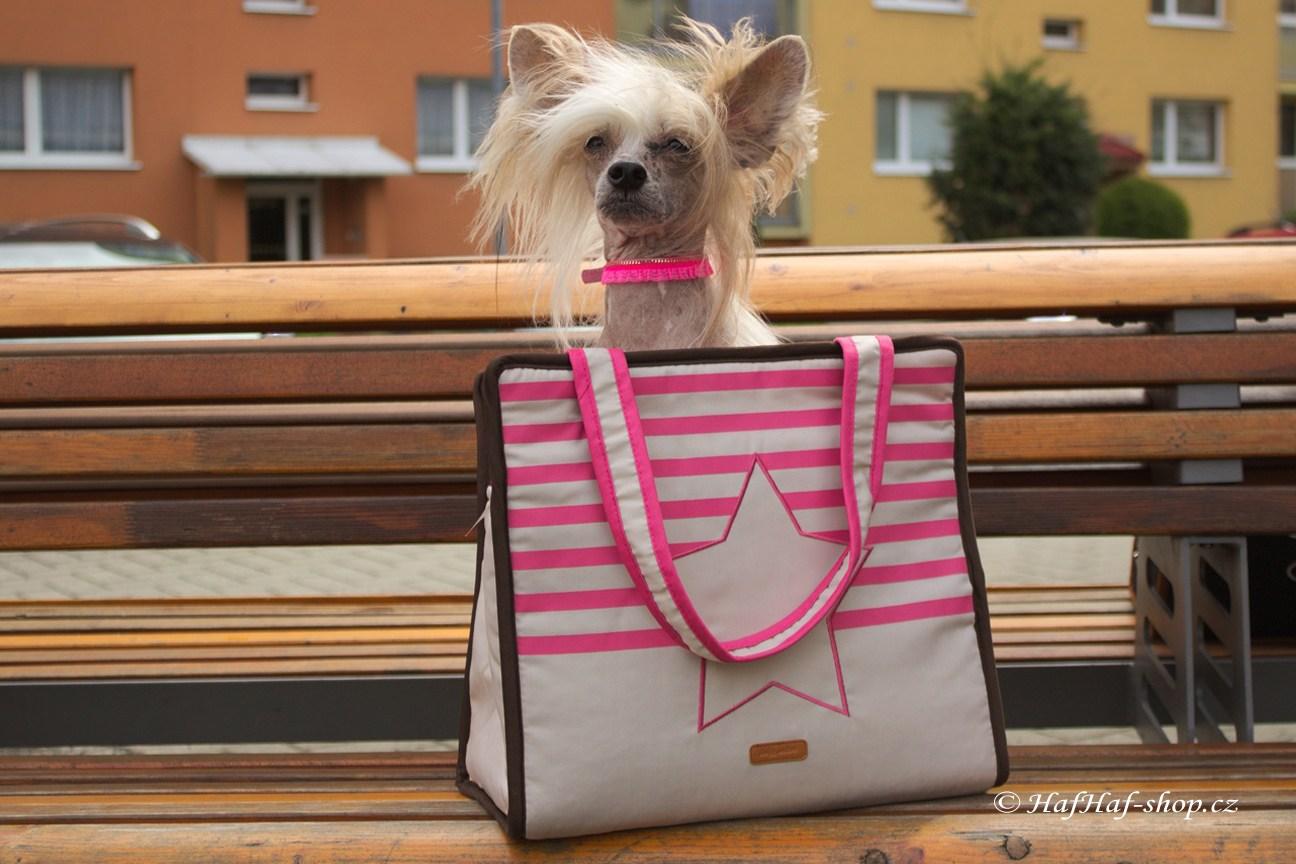 Taška na psa BOBBY Riviera – růžová
