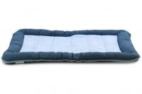 Vnitřní i venkovní chladící matrace pro psy fungující na jiném principu než gelové podložky. Okamžitý chladící efekt, rozměry 80 × 55 × 6 cm.