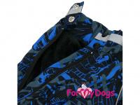 Obleček pro psy jezevčíků – teplý zimní overal BLUE od ForMyDogs z voduodpudivého materiálu. Zapínání na zádech, plyšová podšívka. (2)
