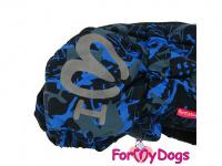 Obleček pro psy jezevčíků – teplý zimní overal BLUE od ForMyDogs z voduodpudivého materiálu. Zapínání na zádech, plyšová podšívka. (3)