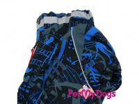 Obleček pro psy jezevčíků – teplý zimní overal BLUE od ForMyDogs z voduodpudivého materiálu. Zapínání na zádech, plyšová podšívka. (4)