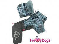 Obleček pro psy – sinteponem zateplený zimní overal GRAY od ForMyDogs. Vylepšené zapínání na zádech, odnímatelná kapuce, plyšová podšívka. (2)