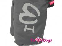 Obleček pro psy – sinteponem zateplený zimní overal GRAY od ForMyDogs. Vylepšené zapínání na zádech, odnímatelná kapuce, plyšová podšívka. (6)