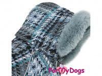 Obleček pro psy – sinteponem zateplený zimní overal GRAY od ForMyDogs. Vylepšené zapínání na zádech, odnímatelná kapuce, plyšová podšívka. (7)