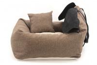 Autosedačka pro psy – pelíšek pro pohodlné cestování a ochranu autosedadel před psími chlupy, nečistotami a poškozením. Extra jednoduchá instalace, včetně polštářku. (4)