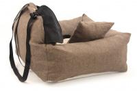 Autosedačka pro psy – pelíšek pro pohodlné cestování a ochranu autosedadel před psími chlupy, nečistotami a poškozením. Extra jednoduchá instalace, včetně polštářku. (6)
