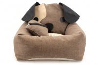Autosedačka pro psy – pelíšek pro pohodlné cestování a ochranu autosedadel před psími chlupy, nečistotami a poškozením. Extra jednoduchá instalace, včetně polštářku.