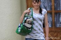 FOTO – Luxusní prostorná kabelka/taška na psy z kolekce Urban Pup, řada ORCHID. Doporučená maximální váha psa 8 kg (2).