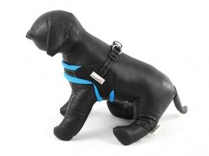 Postroje pro psy – modrý hrudní postroj Doodlebone Airmesh Boomerang Blue (2)