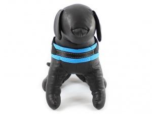 Postroje pro psy – modrý hrudní postroj Doodlebone Airmesh Boomerang Blue