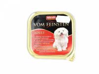 Masová pochoutka s příchutí hovězího masa a krůtích srdíček obohaceného o vitamíny a minerály pro dospělé psy. Hmotnost 150 g. (3)
