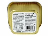 Masová pochoutka s příchutí hovězího masa a krůtích srdíček obohaceného o vitamíny a minerály pro dospělé psy. Hmotnost 150 g. (4)