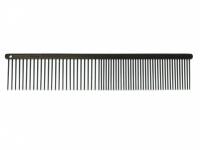 Antistatický kovový hřeben pro psy s teflonovým povrchem vhodný na běžnou úpravu srsti od SHOW TECH. Hřeben má dvě poloviny s rozdílnou hustotou zubů, délka hřebenu 19 cm, zuby 30 mm.
