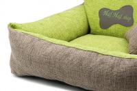Autosedačka pro středně velké psy – pelíšek pro pohodlné cestování a ochranu autosedadel před psími chlupy, nečistotami a poškozením. Extra jednoduchá instalace, včetně polštářku. Barva: zelená. (10)