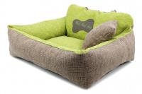 Autosedačka pro středně velké psy – pelíšek pro pohodlné cestování a ochranu autosedadel před psími chlupy, nečistotami a poškozením. Extra jednoduchá instalace, včetně polštářku. Barva: zelená. (3)