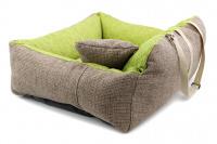 Autosedačka pro středně velké psy – pelíšek pro pohodlné cestování a ochranu autosedadel před psími chlupy, nečistotami a poškozením. Extra jednoduchá instalace, včetně polštářku. Barva: zelená. (5)