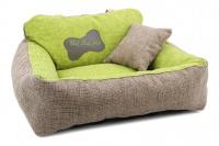Autosedačka pro středně velké psy – pelíšek pro pohodlné cestování a ochranu autosedadel před psími chlupy, nečistotami a poškozením. Extra jednoduchá instalace, včetně polštářku. Barva: zelená. (9)