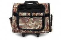 Kombinovaná taška-batoh na psy CAMON s odnímatelnými kolečky a výsuvným madlem. Nosnost 10 kg, lze nosit samostatně, rozměry 43 × 26 × 32 cm. (10)