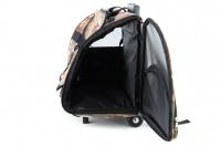 Kombinovaná taška-batoh na psy CAMON s odnímatelnými kolečky a výsuvným madlem. Nosnost 10 kg, lze nosit samostatně, rozměry 43 × 26 × 32 cm. (12)