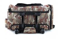 Kombinovaná taška-batoh na psy CAMON s odnímatelnými kolečky a výsuvným madlem. Nosnost 10 kg, lze nosit samostatně, rozměry 43 × 26 × 32 cm. (13)
