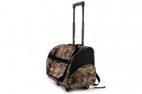 Kombinovaná taška-batoh na psy CAMON s odnímatelnými kolečky a výsuvným madlem. Nosnost 10 kg, lze nosit samostatně, rozměry 43 × 26 × 32 cm. (16)