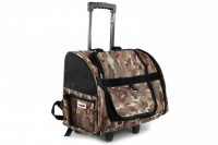 Kombinovaná taška-batoh na psy CAMON s odnímatelnými kolečky a výsuvným madlem. Nosnost 10 kg, lze nosit samostatně, rozměry 43 × 26 × 32 cm. (2)