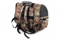 Kombinovaná taška-batoh na psy CAMON s odnímatelnými kolečky a výsuvným madlem. Nosnost 10 kg, lze nosit samostatně, rozměry 43 × 26 × 32 cm. (4)