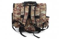 Kombinovaná taška-batoh na psy CAMON s odnímatelnými kolečky a výsuvným madlem. Nosnost 10 kg, lze nosit samostatně, rozměry 43 × 26 × 32 cm. (5)