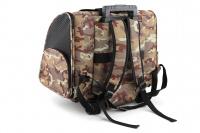 Kombinovaná taška-batoh na psy CAMON s odnímatelnými kolečky a výsuvným madlem. Nosnost 10 kg, lze nosit samostatně, rozměry 43 × 26 × 32 cm. (6)